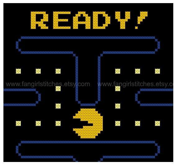 Pac Man Opening Screen Cross Stitch Pdf Pattern