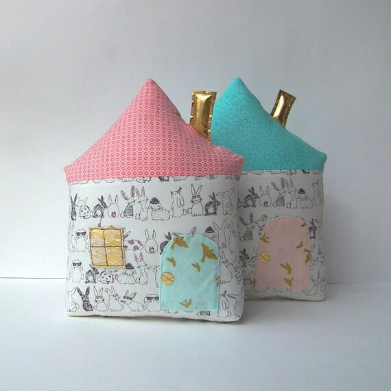 Tooth fairy pillow nursery decor pillow pink roof Fairy