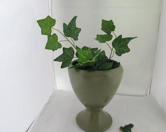Matte Green McCoy Floraline Planter Green Planter Green Vase McCoy Planter Green Floraline Vase