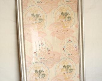 Framed Kimono Art: Kimono Style Cloth, Japanese, Feminine