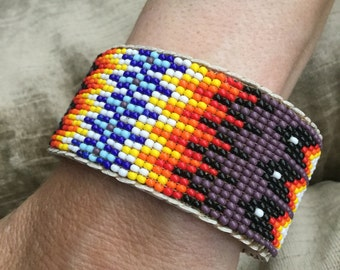Native American Style Beaded Cuff Bracelet