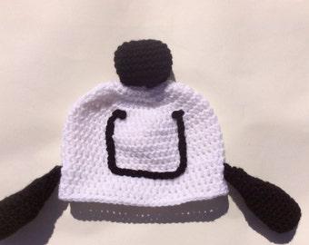 Snoopy Happy Dance inspired crochet hat
