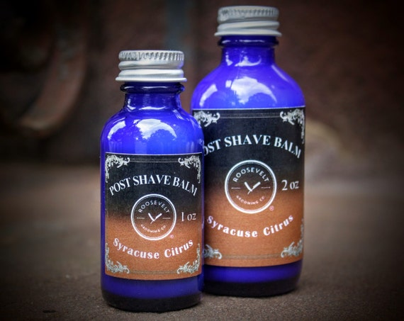 Post Shave Balm - Syracuse Citrus Scent (Smooth and Bright Lemongrass and Orange)