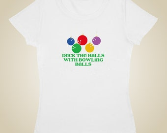 Bowling Christmas Deck the Halls with Bowling Balls shirt