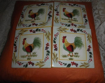 Tiles Ceramic Rooster 222 Fifth or Hot Plates