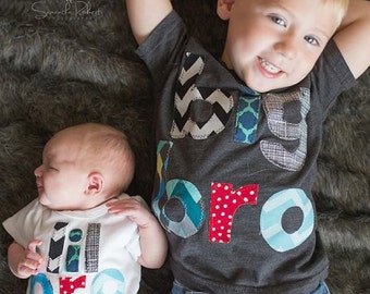 Big Brother Little Brother Shirts, Matching Brother Sibling Set, Big Bro Little Bro Shirts