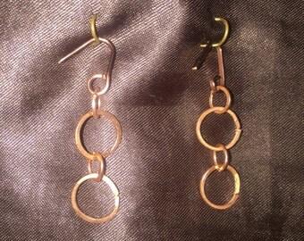 Copper Chain Earrings