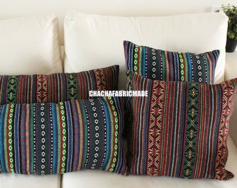 Woven Tribal Pillow Cover Bohemian Decor Mexican Cushion Cover Aztec Pillow Ethnic Pillow Case Navajo Pillow  Custom Any Size