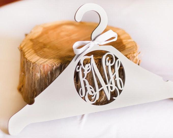 Monogram Hanger - Personalized Wedding Dress Hanger - Bride's Hanger - Bridesmaid's Gift - Gift For The Bride - Bridal Party
