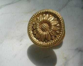 vintage ornate hardware drawer pull/ knob