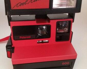 Vintage 1980's Red/Black Polaroid Cool Cam