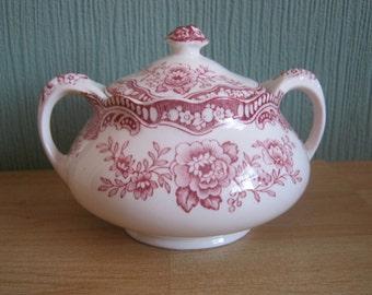 """Vintage Crown Ducal """"Bristol""""Lidded Sugar Pot"""