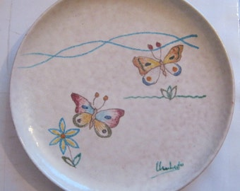 Italian Pottery Wall Plate made by La Vietrese