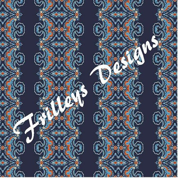 Vera Bradley Inspired Pattern Vinyl Htv Or By Frilleysdesigns