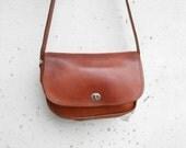 Vintage Leather Bag Distressed Leather Crossbody Bag , Shoulder Bag / Medium / Gift for Her