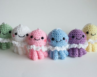Crochet Pastel Jellyfish Doll
