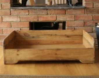 Hunt & Wilson handmade wooden dog bed medium