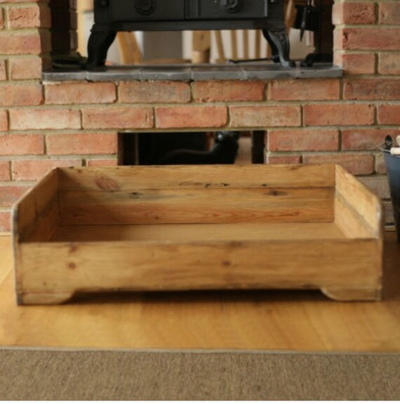 Items similar to hunt wilson handmade wooden dog bed for Wood dog bed furniture