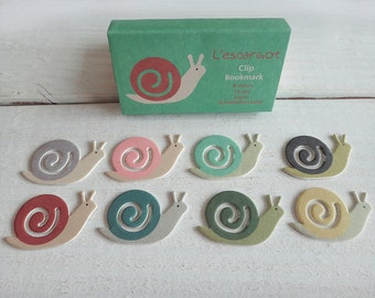 Paper Index Clip / Bookmark  Escargot - snail-cute stationery-eco