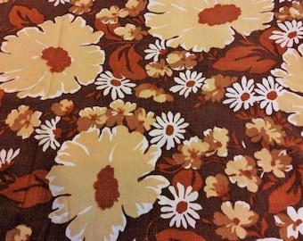 vintage floral duvet cover 1960s-1970s bed linen Scandinavian design