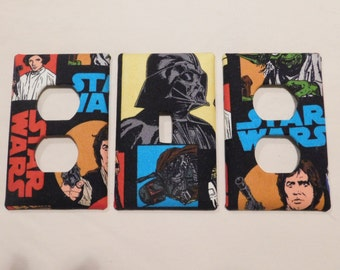 Light Switch Plate Outlet Plug Cover Custom Star Wars Cable Rocker Protective Plug Inserts
