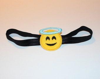Emoji Angel Face Stretchy Headband