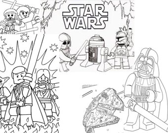 Lego star wars etsy - Coloriage star wars 3 ...