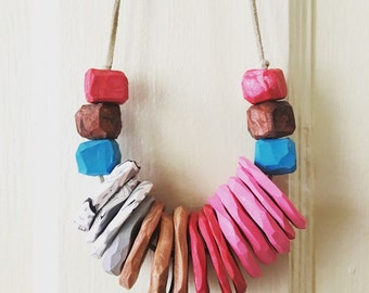Chunky Statment Clay Necklace