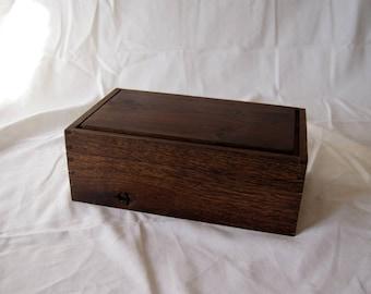 Jewelry box in smoked oak
