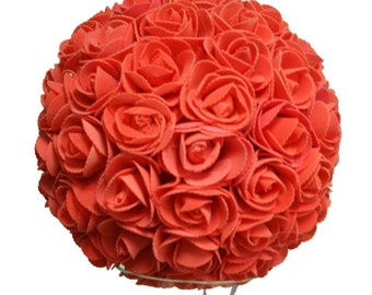 9 Inches Peach/Coral/Lavender/Pink Rose Ball Pomander Kissing ball (USA Seller Fast Shipping)
