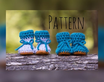 Crochet slipper pattern,baby slipper pattern, crochet slipper
