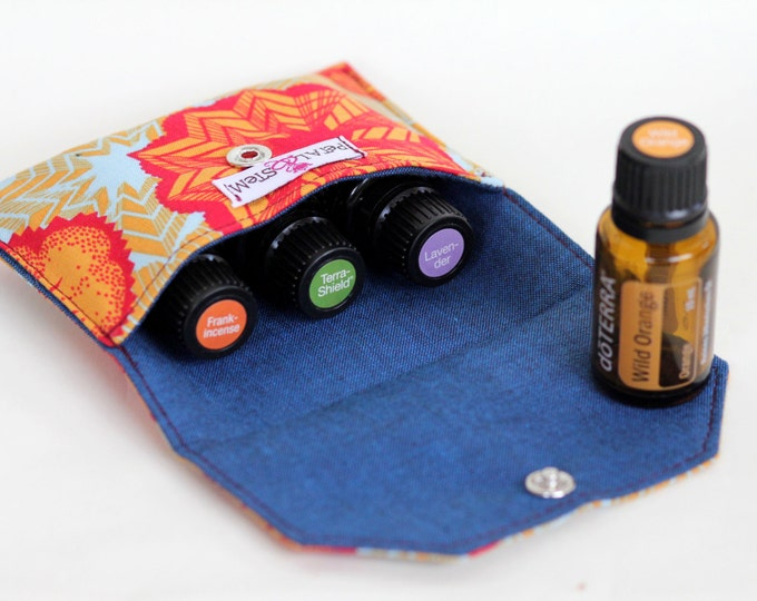 Essential Oil Bag for 3 bottles (15ml) Orange Sea Star