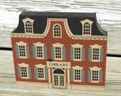 Vintage Wooden The Cat's Meow Franklin Library Main Street Series Faline