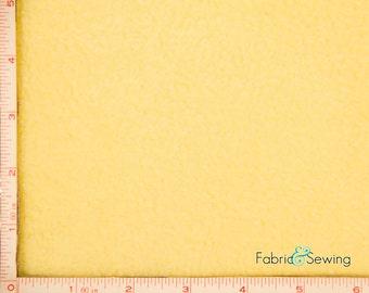 "Light Dusty Yellow Anti-Pill Polar Fleece Fabric Polyester 13 Oz 58-60"""