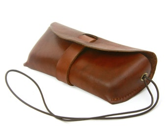 Leather Glasses Case - Saddle Tan