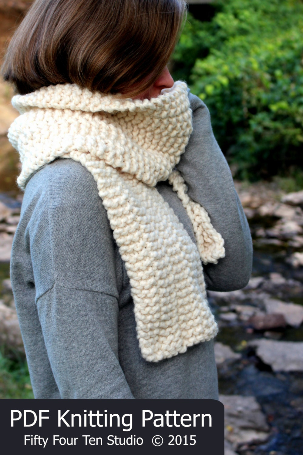 Bulky Scarf Knitting Pattern : Scarf KNITTING PATTERN / Cowl / Quick & Easy / Super Bulky