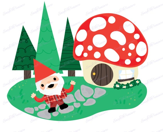 Gnome Clip Art: Items Similar To Digital Download Clipart