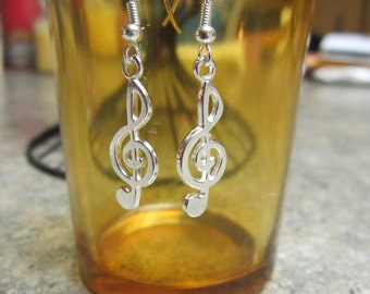 Treble Clef Music Note Earrings - Free Shipping!