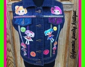 Lalaloopsy Denim vest, Lalaloopsy Jean vest, Lalaloopsy jacket
