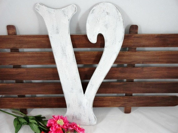 Large Decorative Wooden Letters: Large Wood Letters Victorian Wedding Letters Rustic By