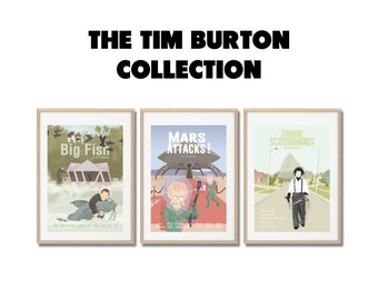 TIM BURTON COLLECTION !!  Movie Prints set - Posters