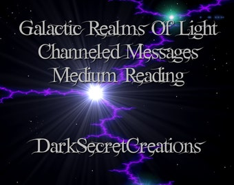 Channeled Messages From Beyond, Realms Of Light Psychic Medium Reading, Via PDF, In Depth Reading