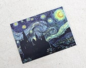 A Starry Night at Hogwarts Magnet