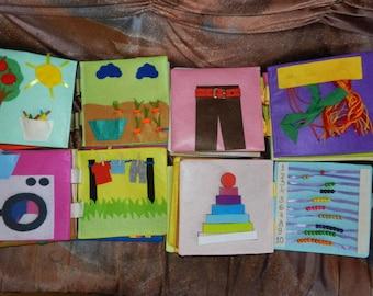 Children quiet book, busy book felt handmade