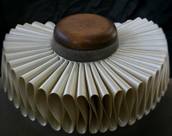 Ivory Satin Elizabethan Ruff Collar