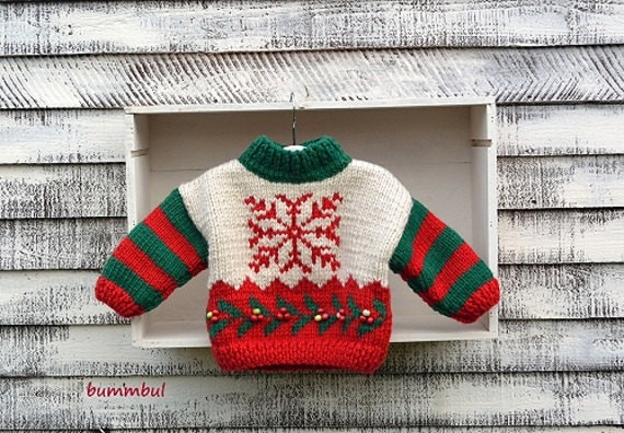 Knitting Pattern Christmas Cardigan : Knitting pattern Knitting pattern Baby Knit Christmas