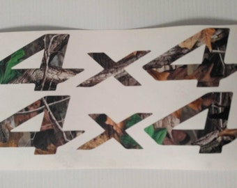 """4X4 camo decal/Sticker Printed and Matte Laminated  8""""-28"""""""