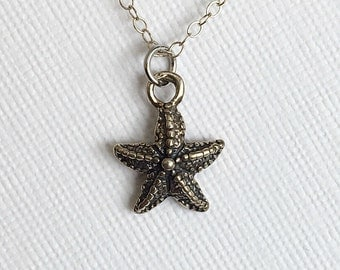 Silver Starfish Necklace, Starfish Necklace, Sterling Starfish Necklace, Starfish Necklaces, Sterling Silver Starfish Necklace, Starfish