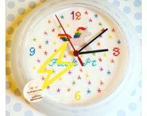 Mature Cross Stitch Sweary Unicorn Rainbow Wall Clock, Unicorn clock, unicorn gift, unicorn decor, unique clock