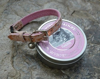 Pink Suede Cat Collar with Safety Release Buckle